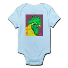 Green/Yellow Rooster Infant Bodysuit