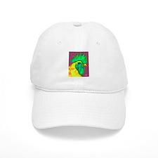 Green/Yellow Rooster Baseball Cap