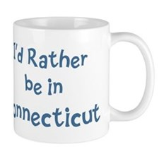 Rather be in Connecticut Small Mug
