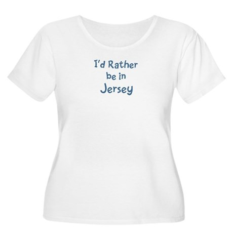 Rather be in Jersey Women's Plus Size Scoop Neck T