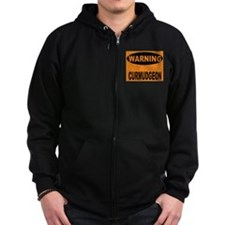 Curmudgeon Warning Zip Hoodie