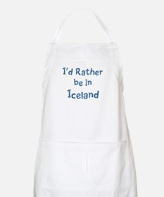 Rather be in Iceland BBQ Apron