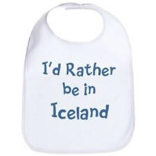 Rather be in Iceland Bib