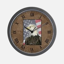Patriotic Eagle Clock