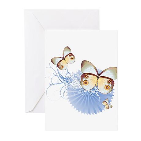 Blue Butterflies Greeting Cards (Pk of 20)