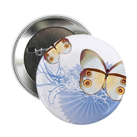 "Blue Butterflies 2.25"" Button"