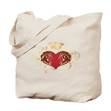 Royal Heart Tote Bag