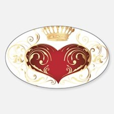 Royal Heart Oval Decal