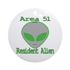 Area 51 Resident Alien Ornament (Round)
