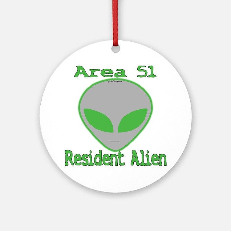 Area 51 Resident Alien Ornament (Round)