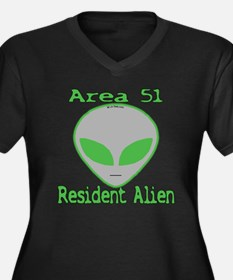 Area 51 Resident Alien Women's Plus Size V-Neck Da