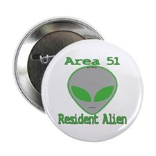 "Area 51 Resident Alien 2.25"" Button (10 pack)"