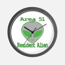 Area 51 Resident Alien Wall Clock