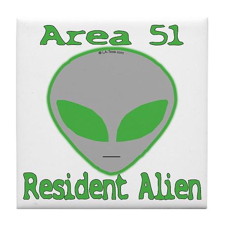 Area 51 Resident Alien Tile Coaster