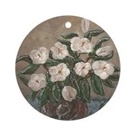 Magnolias Art Ornament (Round)