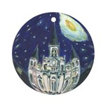 New Orleans Art Starry Night Ornament (Round)