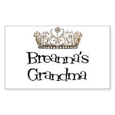 Breanna's Grandma Rectangle Decal