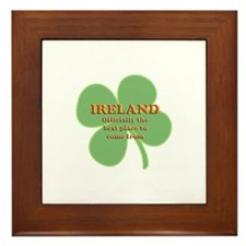 Ireland, the best place! Framed Tile