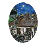 New Orleans Art Black Smith Shop Oval Ornament