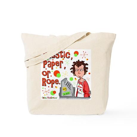 Plastic, Paper or Rope Tote Bag