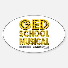 HIGH SCHOOL MUSICAL PARODY Oval Decal