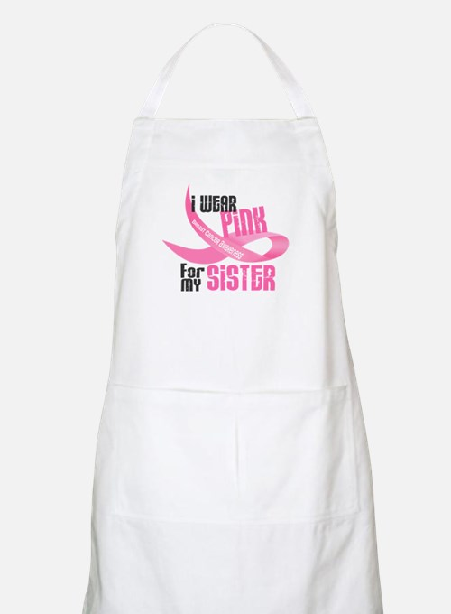I Wear Pink For My Sister 33 BBQ Apron