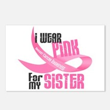 I Wear Pink For My Sister 33 Postcards (Package of