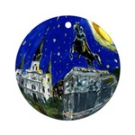 New Orleans Starry Jackson Sq Art Ornament (Round)