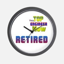 Retired Top ENGINEER Wall Clock