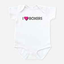 I LUV BOXERS Infant Creeper