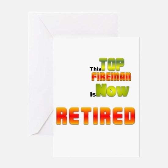 Retired Top Fireman Greeting Card