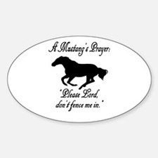 A Mustang's Prayer Oval Decal