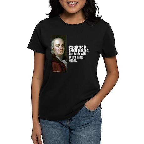 "Franklin ""Experience"" Women's Dark T-Shirt"