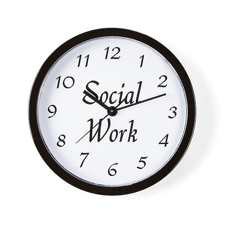 Social Work (black) Wall Clock