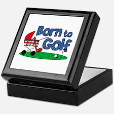 Born To Golf Keepsake Box