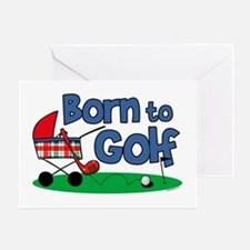 Born To Golf Greeting Card