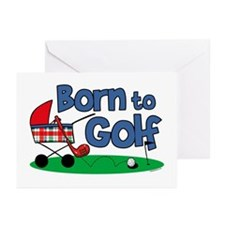 Born To Golf Greeting Cards (Pk of 10)