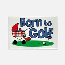 Born To Golf Rectangle Magnet