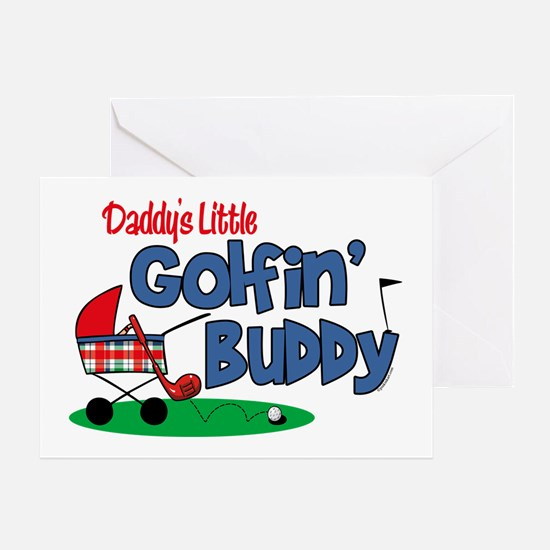 Daddy's Little Golfin' Buddy Greeting Card