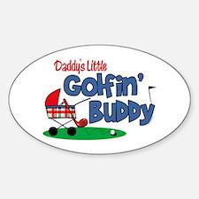 Daddy's Little Golfin' Buddy Oval Decal