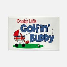 Daddy's Little Golfin' Buddy Rectangle Magnet