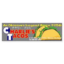 Charlie's Tacos Bumper Bumper Bumper Sticker