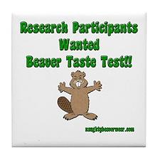 Beaver Taste Test Tile Coaster