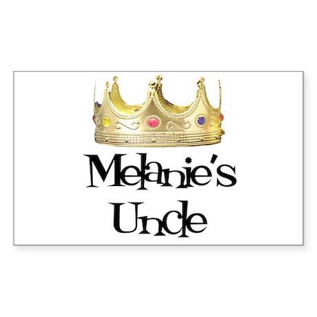 Melanie's Uncle Rectangle Sticker