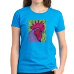 Red/Purple Rooster Women's Dark T-Shirt