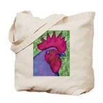 Red/Purple Rooster Tote Bag