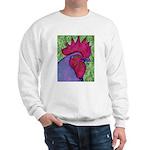 Red/Purple Rooster Sweatshirt