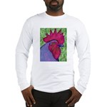 Red/Purple Rooster Long Sleeve T-Shirt