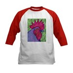 Red/Purple Rooster Kids Baseball Jersey