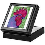 Red/Purple Rooster Keepsake Box